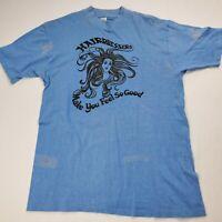 Vintage Hairdresser TKO Size 38-40 M T Shirt Blue Single Stitch Women's Medium