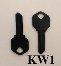 2 BLACK BLANK HOUSE KEYS FOR KWIKSET LOCKS KW1