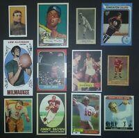😊 5 Sport HOF Lot✔ 1951 Parkhurst Gordie Howe 1979 Wayne Gretzky Rookie Card 🏒