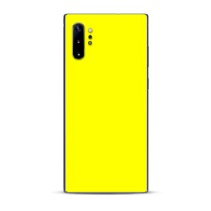 Skins Decal Wrap for Samsung Note 10 Plus Bright Yellow
