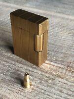"""S.T. Dupont Feuerzeug Gold 46mm klein inkl. Fülladapter mit Gravur """"EL"""""""