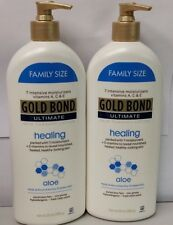 Gold Bond Ultimate Healing Aloe Lotion 20 OZ (566 g)  2 NEW BOTTLES free ship