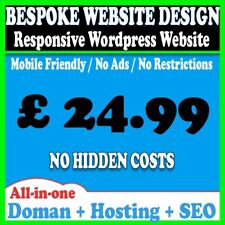 5 Pages Website Web Design Personal Business Or Blog Wordpress Domain Hosting