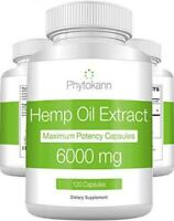 Hemp Oil Capsules 6000 MG - Best Extract for Pain Relief with Omega 3 6...