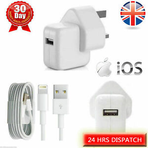 Genuine Quality 12W Wall Charger Plug Cable for iPad Air iPhone 6 7 8 XS XR OEM