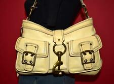 COACH Legacy Vachetta Leather Ivory Satchel Tote Clip Shoulder Bag Purse 7458