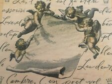 Hero Arts Cherub Scroll Artprints Mounted Rubber Stamp Angels Religious Craft