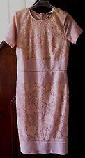 Miss Selfridge nude lace midi pencil dress size 10, RRP £45.00 BNWT