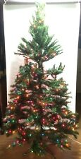 New 7ft Pre-Lit Norway Pine Artificial Christmas Tree w/ 500 Colored Lights NIB