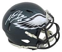 Eagles Miles Sanders Authentic Signed Speed Mini Helmet Autographed JSA Witness