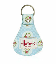 HARRODS LONDON FAMOUS SIGNATURE VINTAGE ROSE SHABBY CHIC KEYRING- GREAT GIFT