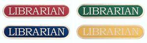 Librarian Bar Enamel Badges - Free Delivery