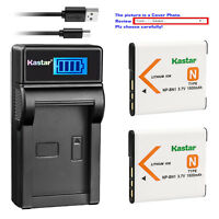Kastar Battery LCD Charger for Sony NP-BN1 BN1 Sony Type N Sony BC-CSN BC-CSNB