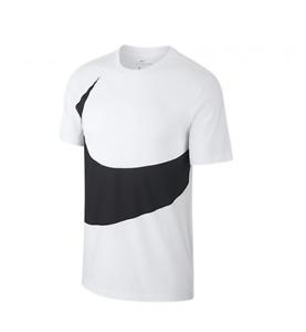 Nike Swoosh T-Shirt Tee Men Herren Freizeit Sport Training Weiß Fitness