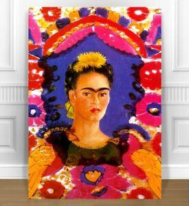 "FRIDA KAHLO FRAME CANVAS ART PRINT 16x12"""