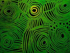 MINNIE PWERLE - Aboriginal Art  - Original Green Colour