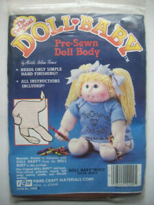 The Original Doll-Baby Soft Sculpture Doll  Pre-Sewn Doll Body brown Color