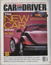 Car & Driver magazine 10/1996 featuirng Plymouth, Toyota, Ferrari, Mercedes, GM