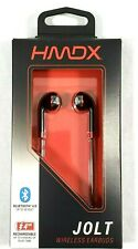 HMDX Jolt Bluetooth 4.0 Earbuds Wireless Black Red Hands Free Rechargeable BQ