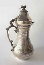 ANTIQUE OTTOMAN SILVER COFFEE POT TURKISH ISLAMIC ARABIC XIX/XX