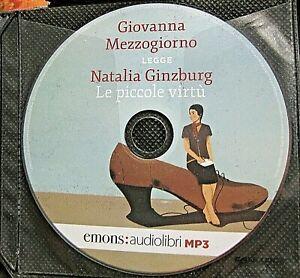 Audiolibro audiobook cd MP3  LE PICCOLE VIRTU'  Natalia Ginzburg  / USATO