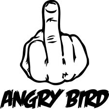 Angry Bird middle finger Car/SUV/Truck/Boat Vinyl Decal/Sticker iPad macbook