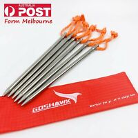 Goshawk Titanium Outdoor Camping Hiking Heavy Duty Tent Peg Hard Ground Nail