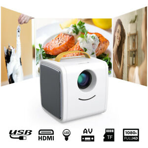Excelvan Mini LED Full HD 1080P Proyector Vídeo Home Cinema USB HDMI TF AV EU