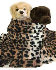 Leopard, Fuzee Fleece Dog Blankets,Soft Pet Blanket Travel Throw Cover