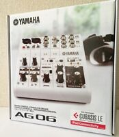 NEW YAMAHA AG06 6 Channel Web Casting Mixer 2 Channel USB Audio Interface JAPAN
