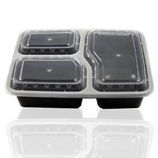 10x FORNO A MICROONDE impilabile plastica riutilizzabile pasto Prep CONTENITORI CIBO Storage