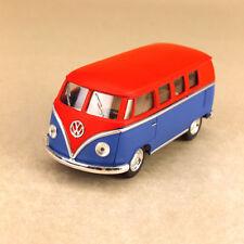 1962 Volkswagen Kombi Microbus 1:32 Scale 13cm Die-Cast Model Car Matt Blue Red