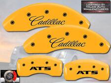 "2013-2016 ""Cadillac ATS"" 2.5L JE5 Front Rear Yello MGP Brake Disc Caliper Covers"