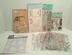 Lot of 10 Assorted Scrapbooking Sticker Sheets Plaid,Jolee's, Sue Zipkin and Cat