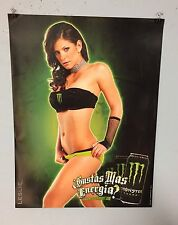 MONSTER ENERGY DRINK POSTER LESLIE GOMEZ BEER POSTER