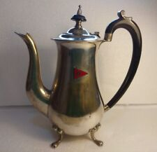 Silver Plated Coffee Pot With Royal Air Force R.A.F Insignia