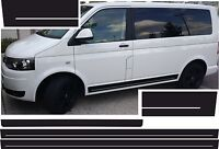 VW T4 T5 T6 BUS RAYAS LATERALES PEGATINA BLANCO SIN SCRIPT COLOR DESEADO