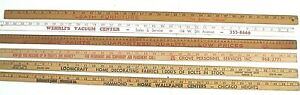 Vintage Yardsticks with Advertising-Assorted Companies-Illinois/Chicago Stores