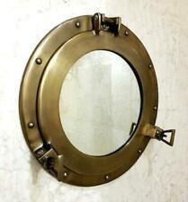 Brass metal porthole nautical wall mirror shabby vintage chic bathroom Home