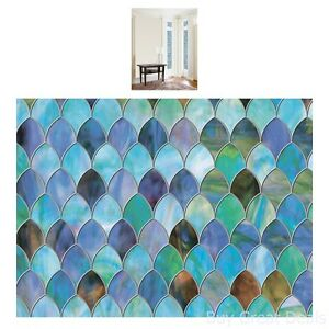 Brewster Peacock Window Privacy Film Textured And Stained Glass Effect 11.5x78in