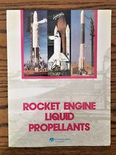 1988 Rockwell Rocketdyne ROCKET ENGINE LIQUID PROPELLANTS Brochure Poster