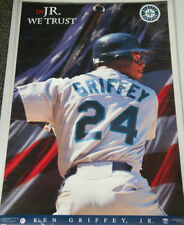 a34ff0e343 Ken Griffey Jr. IN JUNIOR WE TRUST Seattle Mariners 1996 Costacos POSTER