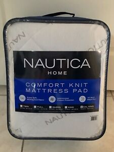 New NAUTICA Home Super Soft Antimicrobial Comfort Knit Mattress Pad CAL KING