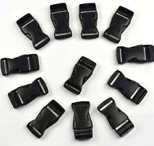 ANBANA 12 pcs black plastic 1inch (25mm) flat side release buckles, New