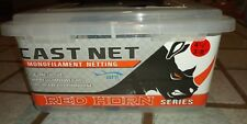 "Ahi Red Horn cast net Monofilament netting 4.5' 3/8"" mesh casting cn-245"