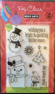 """Hero Arts Poly Clear Stamps """"Snow Much Fun"""" *New*"""