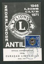 NEDERLANDSE ANTILLEN MK 1971 LIONS CLUB CARTE MAXIMUM CARD MC CM d2965