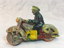 """Vintage bendable rubber police motorcycle - Reliable Toy Company Canada 4"""" Long"""