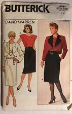 Misses Size 14 Jacket Dress Vintage Sewing Pattern Butterick 4091