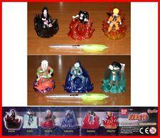 Set 6 FIGURE Bandai NARUTO PART 4 Haku Sasuke Itachi Kakashi GASHAPON Figures